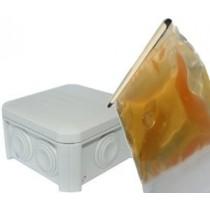 Boite jonction gel avec résine gel à couler 90x90
