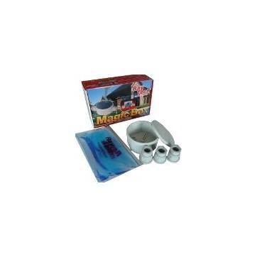Boite jonction ronde diamètre 80mm-4 presse-étoupes-magic gel
