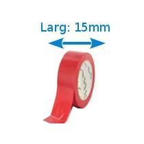 Ruban isolant adhésif rouge larg 15 mm long 10 m