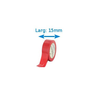 Ruban isolant adhésif rouge larg 15 mm long 10 m