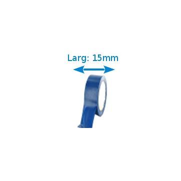 Ruban isolant adhésif Bleu larg 15 mm long 10 m