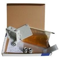 Boite jonction gel avec résine gel 94x94 + presse étoupe