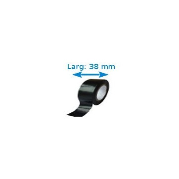 Ruban isolant adhésif Noir larg 38 mm long 25 m