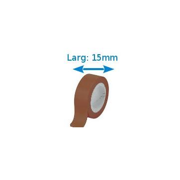 Ruban isolant adhésif Brun larg 15 mm long 10 m