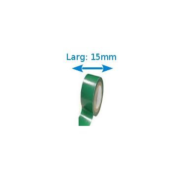 Ruban isolant adhésif Vert larg 15 mm long 10 m