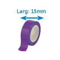 Ruban isolant adhésif violet larg 15 mm long 10 m